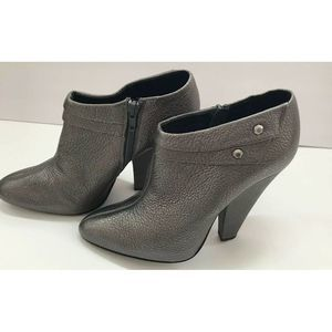 7 For All Mankind Wms Metallic Leather Ankle Boots